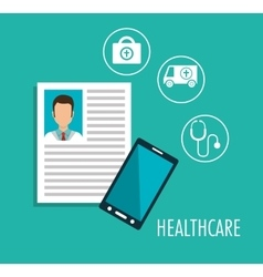 set online services medical isolated vector image