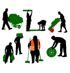 worked people vector image vector image