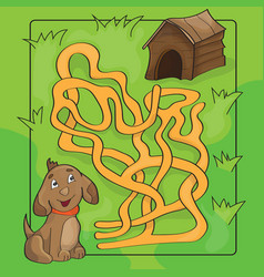 cartoon of education maze or vector image vector image
