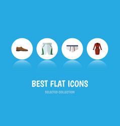Flat icon garment set of underclothes trunks vector