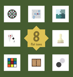 Flat icon play set of cube sea fight chequer and vector