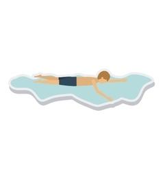 person figure athlete swimming sport icon vector image