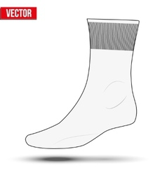 Realistic layout of white socks A simple example vector image vector image