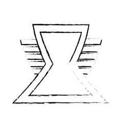 triangle shield secure symbol sketch vector image