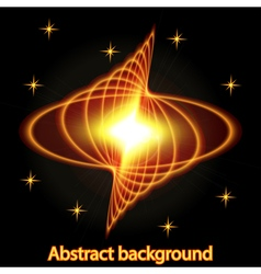 Abstract background with bright fire glowing geome vector image vector image