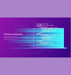 software development programming coding vector image