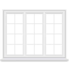 traditional big white window isolated vector image vector image