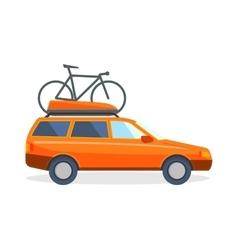 Travel by car flat summer vacation vector image vector image