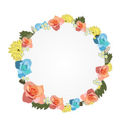 watercolor frame with flowers vector image vector image