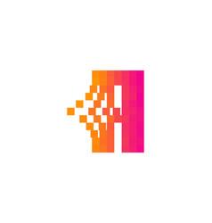 a letter pixel bit logo icon design vector image