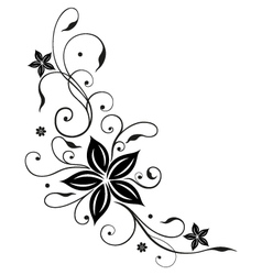 Abstract floral element vector