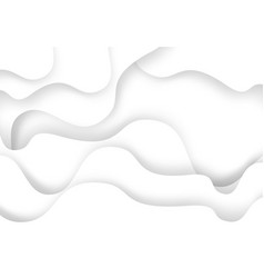 abstract white curve paper cut overlap 3d vector image