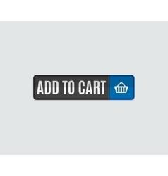 Add to cart web button online shopping flat vector
