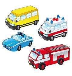 Ambulance police vector