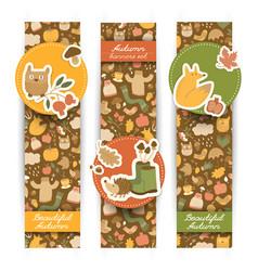 Autumn vertical banners set vector