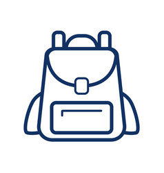 backpack icon on white background school bag vector image