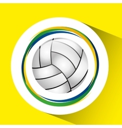 Ball volleyball olympic games brazilian flag vector