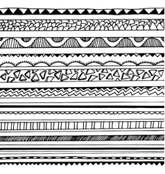 Black and white tribal seamless pattern vector