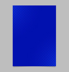 Blue halftone dot pattern flyer template - vector