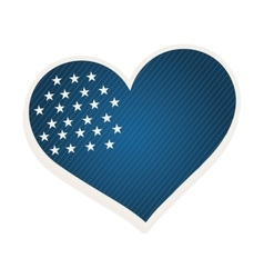 Blue heart shape with stars vector