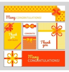 Bow And Ribbon Cards vector