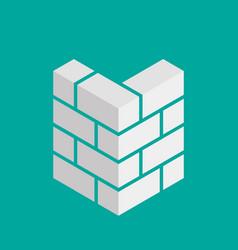 bricks icon bricks logo isolated on background vector image