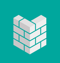Bricks icon bricks logo isolated on background vector