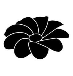 bright flower icon simple black style vector image