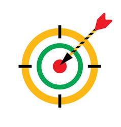 bullseye darts icon with arrow hit the vector image