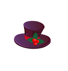 christmas hat isolated vector image
