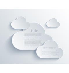 cloud design element vector image
