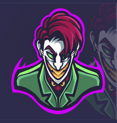 clown esport mascot logo design vector image