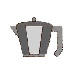 coffee pot handle steel vector image