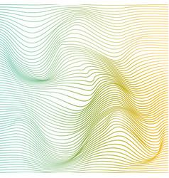 Color stripe deformation background vector