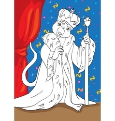 Coloring Book Of Mouse King From Tale Nutcracker vector