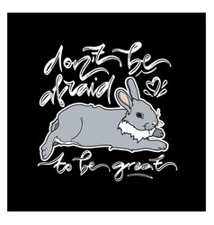 cute card with lying rabbit vector image