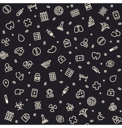 Dark Seamless Medical Pattern vector