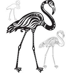 Decorative flamingo vector
