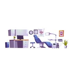 Dentist office dental practice room interior vector