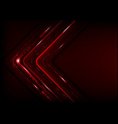 Digital technology futuristic abstract red vector