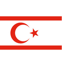 Flag turkish republic of northern cyprus official vector