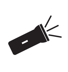 Flashlight icon on white background flat style vector