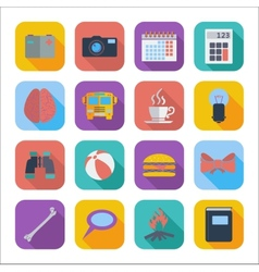 Flat icons for Web Design vector