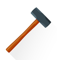 Flat sledgehammer icon vector