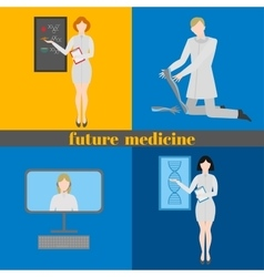 Future doctors and nurses and medical staff vector image