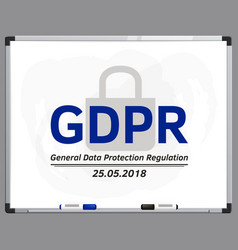 General data protection regulation vector
