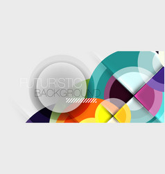 geometric design abstract background - circles vector image