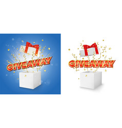 giveaway gift box concept for banner vector image