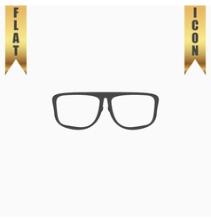 Glasses flat icon vector image