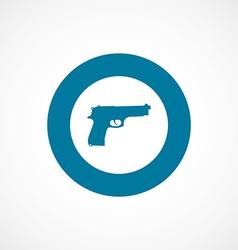 Gun bold blue border circle icon vector